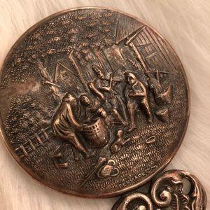 VINTAGE Silver Hand Mirror Boho Accessories